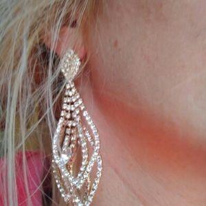 Jewelry - Rhinestone Chandelier Special Occasion Earrings